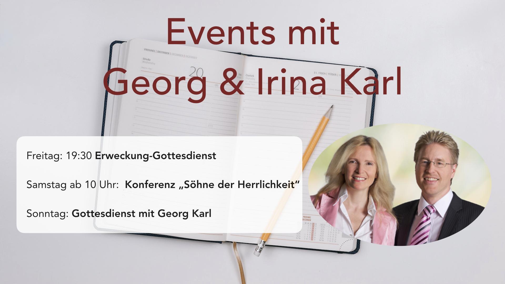 Events mit Georg und Irina Karl
